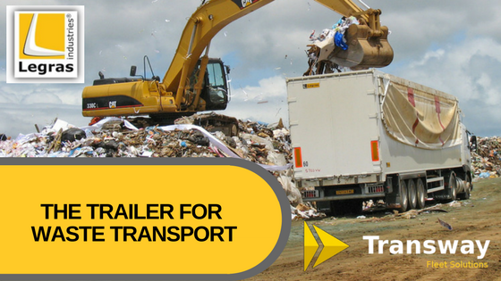 Trailer for waste transport Legras Transway Fleet solutions
